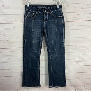 Cowgirl Tuff Girls Night Out Boot Cut Jeans 28x30